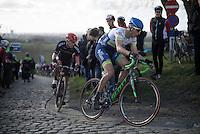 Jens Keukeleire (BEL/Orica-GreenEDGE) on top of the Paterberg<br /> <br /> E3 - Harelbeke 2016
