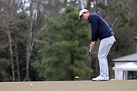 PINEHURST, NC - MARCH 02: Peter Fountain of the University of North Carolina putts on the fifth hole at Pinehurst No. 2 on March 02, 2021 in Pinehurst, North Carolina.