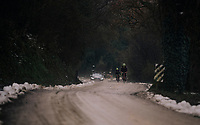 Michael Gogl (AUT/Trek-Segafredo) & Fabio Felline (ITA/Trek-Segafredo) during the reconnaissance of the 12th Strade Bianche 2018