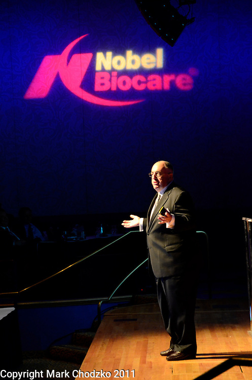 Nobel Biocare executive speaking at their annual national sales meeting.