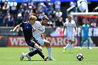 SAN JOSE, CA - JUNE 8: Jackson Yueill #14, Francis Atuahene #17 during a game between FC Dallas and San Jose Earthquakes at Avaya Stadium on June 8, 2019 in San Jose, California.
