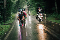 breakaway group in one of many downpours during this stage<br /> <br /> Stage 4: Gansingen > Gstaad (189km)<br /> 82nd Tour de Suisse 2018 (2.UWT)
