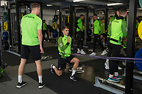 Tom Carroll of Swansea City in the gym during the Swansea City Training at The Fairwood Training Ground in Swansea, Wales, UK.  Wednesday 08 January 2020