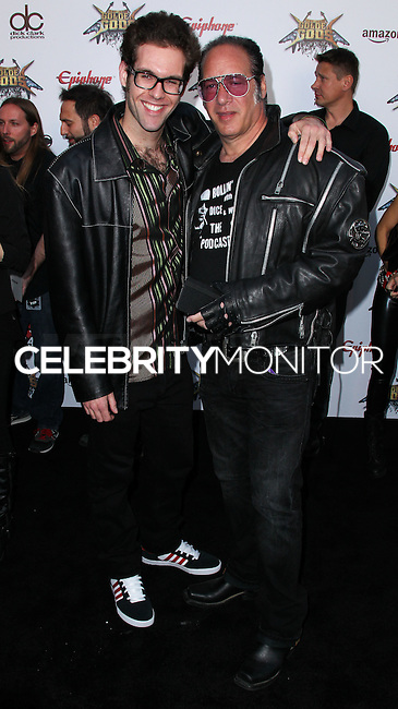LOS ANGELES, CA, USA - APRIL 23: Max Silverstein, Andrew Dice Clay at the 2014 Revolver Golden Gods Award Show held at Club Nokia on April 23, 2014 in Los Angeles, California, United States. (Photo by Xavier Collin/Celebrity Monitor)
