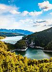 Italien, Trentino, bei Cles: die Santa-Giustina-Talsperre im Val di Non, staut den Noce zum Santa-Giustina-See (Lago di Santa Giustina)   Italy, Trentino, near Cles: Lago di Santa Giustina