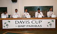 30-01-2014,Czech Republic, Ostrava, Cez Arena, Davis Cup, Czech Republic vs Netherlands, draw, city hall, the Dutch team<br /> Photo: Henk Koster