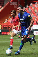 Kieffer Moore of Wigan in action during Charlton Athletic vs Wigan Athletic, Sky Bet EFL Championship Football at The Valley on 18th July 2020