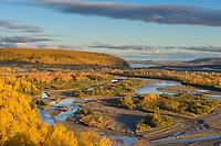 Tanana River flowing through interior Alaska near Delta Junction.