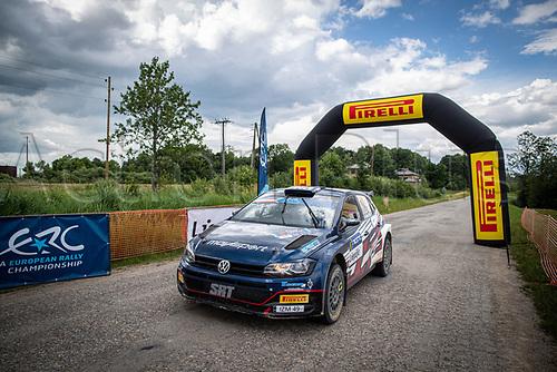 3rd July 2021, Liepaja, Latvia;  03 MARCZYK Miko (POL), GOSPODARCZYK Szymon (POL), ORLEN TEAM, ¦koda Fabia Evo during the 2021 FIA ERC Rally Liepaja, 2nd round of the 2021 FIA European Rally Championship