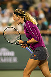 March 8, 2019: Victoria Azarenka (BLR) reacts during her match as she was defeated by Serena Williams (USA)  7-5, 6-3 at the BNP Paribas Open at the Indian Wells Tennis Garden in Indian Wells, California. ©Mal Taam/TennisClix/CSM