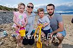 Enjoying Banna beach on Sunday, l to r: Ruby, Sarah, Charlie and Dermot Cox.