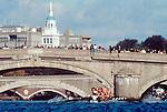 Rowing, Head of the Charles Rowing Regatta, Greenlake Crew racing the clock, Cambridge Massachusetts, New England, USA