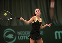 The Hague, The Netherlands, March 17, 2017,  De Rhijenhof, NOJK 14/18 years, Laurél Polman (NED)<br /> Photo: Tennisimages/Henk Koster