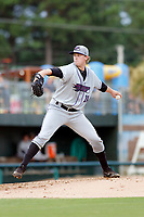 Winston-Salem Dash pitcher John Parke (28) on the mound during a game against the Myrtle Beach Pelicans at Ticketreturn.com Field at Pelicans Ballpark on July 23, 2018 in Myrtle Beach, South Carolina. Winston-Salem defeated Myrtle Beach 6-1. (Robert Gurganus/Four Seam Images)