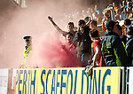 St Johnstone v Motherwell...11.09.10  .Motherwell fans set off flares.Picture by Graeme Hart..Copyright Perthshire Picture Agency.Tel: 01738 623350  Mobile: 07990 594431