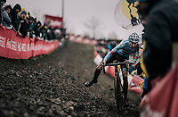 a delicate balance act by Michael Vanthourenhout (BEL/Marlux-Bingoal)<br /> <br /> Elite Men's Race<br /> Belgian National CX Championschips<br /> Kruibeke 2019
