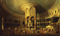 London:  Interior of the Rotunda at Ranelagh by Canaletto, 1429.  National Gallery, London.  Reference only.