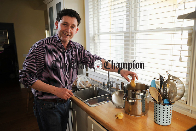 Councillor Johnny Flynn of Fine Gael at home in Ennis. Photograph by John Kelly.
