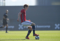 Hakon Rosten (3) of Norway pictured during a soccer game between the national teams Under17 Youth teams of  Norway and Luxemburg on day 2 in the Qualifying round in group 3 on saturday 9 th of October 2020  in Tubize , Belgium . PHOTO SPORTPIX   DAVID CATRY