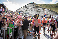 Greg Van Avermaet (BEL/CCC), finish and Jens Keukeleire (BEL/Lotto Soudal) finishing. <br /> <br /> Stage 14: Tarbes to Tourmalet (117km)<br /> 106th Tour de France 2019 (2.UWT)<br /> <br /> ©kramon