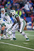 New York Jets tackle Kelvin Beachum (68) during an NFL football game against the Buffalo Bills, Sunday, December 9, 2018, in Orchard Park, N.Y.  (Mike Janes Photography)