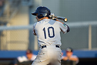 Zach Rutherford (10) of the Princeton Rays at bat against the Danville Braves at American Legion Post 325 Field on June 25, 2017 in Danville, Virginia.  The Braves walked-off the Rays 7-6 in 11 innings.  (Brian Westerholt/Four Seam Images)