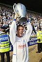 14/04/2007       Copyright Pic: James Stewart.File Name : sct_jspa11_raith_rovers_v_morton.MORTON'S CHRIS MILLAR CELEBRATES WINNING THE LEAGUE...James Stewart Photo Agency 19 Carronlea Drive, Falkirk. FK2 8DN      Vat Reg No. 607 6932 25.Office     : +44 (0)1324 570906     .Mobile   : +44 (0)7721 416997.Fax         : +44 (0)1324 570906.E-mail  :  jim@jspa.co.uk.If you require further information then contact Jim Stewart on any of the numbers above.........