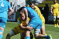 2nd May 2021; Stade Marcel-Deflandre, La Rochelle, France. European Champions Cup Rugby La Rochelle versus  Leinster Semi-Final;  Pierre BOUGARIT of Stade Rochelais stops the Leinster run