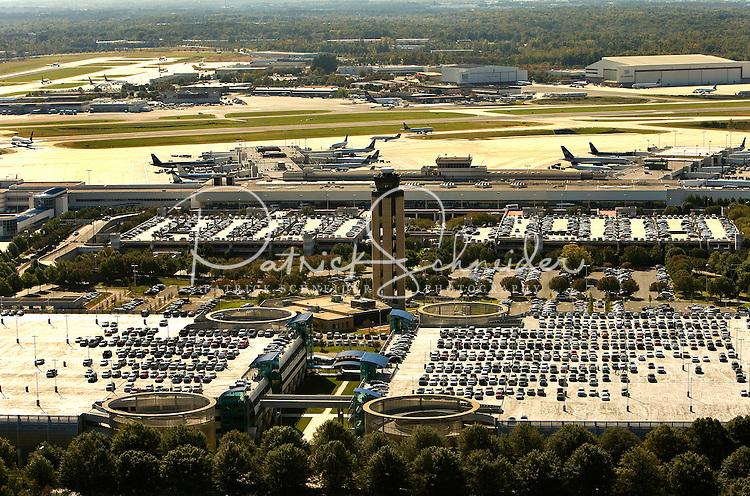 Aerial photo of Charlotte Douglas International Airport, taken October 2008.