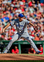 22 June 2019: Toronto Blue Jays starting pitcher Derek Law on the mound in the second inning against the Boston Red Sox at Fenway :Park in Boston, MA. The Blue Jays rallied to defeat the Red Sox 8-7 in the 2nd game of their 3-game series. Mandatory Credit: Ed Wolfstein Photo *** RAW (NEF) Image File Available ***