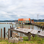 Tokland Marina, near Westport, Washington State, USA.  Sheltered from the Pacific Ocean, historicl Tokland is suffering from down economies and fragile fisheries.