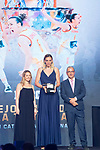 Lucia Pascua picks up Silvia Dominguez's Prize during the first edition of Spanish Basketball Awards. July 25, 2019. (ALTERPHOTOS/Francis Gonzalez)