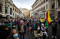"Rome, 03/10/2020. Today, a rally was held in Piazza Santi Apostoli (1.) to call the Italian Government (Giallo-Rosso: Movimento 5 Stelle / Partito Democratico / Liberi e Uguali LeU - Five Star Movement / Democratic Party PD / Free and Equal LeU, 2.) to finally make the long awaited reform of the citizenship law which will give the Italian Citizenship to the children who are born and grown up in Italy (once called ""Ius Soli"" or ""Ius Culturae"" Law), the abolition of Matteo Salvini's ""Decreti Salvini / Decreti Sicurezza"" (Law 1° Dicembre 2018, n. 132, http://bit.do/eE7uo, Decree Law n. 53, 14 June 2019, http://bit.do/eV3iZ), and the cancellation of the agreements with Libya (3.). The 3rd of October marks the 7th anniversary of the tragic 2013 Lampedusa migrant shipwreck in which a boat sank near the island of Lampedusa killing 368 people (4.).<br />