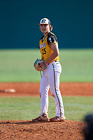 Luke Schmolke (25) during the WWBA World Championship at Terry Park on October 11, 2020 in Fort Myers, Florida.  Luke Schmolke, a resident of Mooresville, North Carolina who attends Lake Norman High School, is committed to Georgia Tech.  (Mike Janes/Four Seam Images)