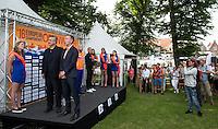 BARELLI Paolo LEN 's President with Erik Van Heijningen President of Dutch Swimming Federation during the medal ceremony<br /> Hoorn, Netherlands <br /> LEN 2016 European Open Water Swimming Championships <br /> Open Water Swimming<br /> Men's 10km<br /> Day 01 10-07-2016<br /> Photo Giorgio Perottino/Deepbluemedia/Insidefoto