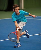 20131201,Netherlands, Almere,  National Tennis Center, Tennis, Winter Youth Circuit, Thijmen Loof    <br /> Photo: Henk Koster
