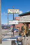 Fox News is big in conservative rural America, Motel sign, Mining town, Main Street, USA, Ely, Nevada,