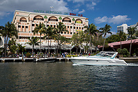 Ft. Lauderdale, Florida.  Briny Riverfront Irish Pub and Restaurant, New River.