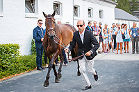 NZL-Tim Price presents Cekatinka during the CICO3* Horse Inspection for the DHL Preis Eventing. 2018 GER-Weltfest des Pferdesports CHIO Aachen. Thursday 19 July. Copyright Photo: Libby Law Photography