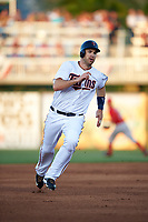 Minnesota Twins first baseman Joe Mauer (7) running the bases during a Spring Training game against the Boston Red Sox on March 16, 2016 at Hammond Stadium in Fort Myers, Florida.  Minnesota defeated Boston 9-4.  (Mike Janes/Four Seam Images)