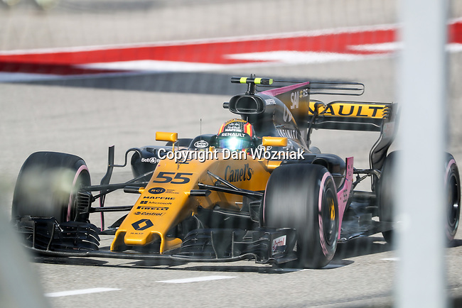 Carlos Sainz (55) of Spain in action during qualifying before this weekends Formula 1 United States Grand Prix race at the Circuit of the Americas race track in Austin,Texas.