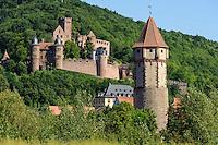 Burg und Spitzer Turm in Wertheim am Main, Baden-Württemberg, Deutschland