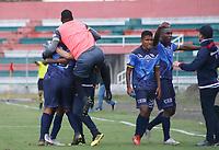 TULUA - COLOMBIA, 30-05-2021: Cortuluá y Fortaleza CEIF en partido por la fecha 3, cuadrangulares semifinales, como parte del Torneo BetPlay DIMAYOR I 2021 jugado en el estadio Doce de Octubre de la ciudad de Tuluá. / Cortulua and Fortaleza CEIF in the match for the date 3, semifinal home runs, as part of BetPlay DIMAYOR Tournament I 2021 played at Doce de Octubre stadium in Tulua city. Photo: VizzorImage / Juan Jose Horta / Cont