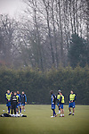 Rochdale v Tranmere Rovers preparations, 31/12/2010. Prenton Park, League One. Tranmere Rovers assistant manager Kevin Summerfield issuing instructions to the first team squad during training at the club's Raby Mere training ground, as the club prepare for the following day's Npower League 1 fixture away to Rochdale. It was the first league fixture between the teams since March 1989. Rochdale won this latest encounter by three goals to two watched by a crowd of 5,500. Photo by Colin McPherson.