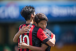 FC Seoul vs Newcastle United during the Main tournament of the HKFC Citi Soccer Sevens on 22 May 2016 in the Hong Kong Footbal Club, Hong Kong, China. Photo by Lim Weixiang / Power Sport Images