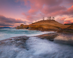 Fading glow just after sunset on the Oregon coast.