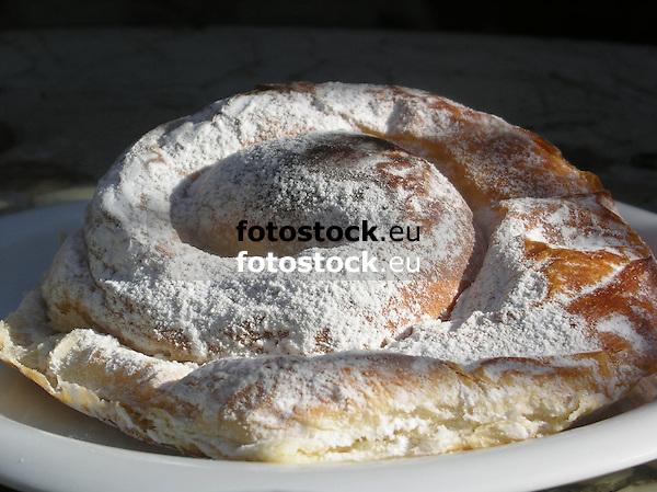 Ensaimada, typical mallorquean pastry<br /> <br /> Ensaimada mallorquina<br /> <br /> Ensaimada, typisch mallorquinische Hefeschnecke