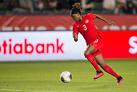 CARSON, CA - FEBRUARY 07: Kadeisha Buchanan #3 of Canada dribbles with the ball during a game between Canada and Costa Rica at Dignity Health Sports Complex on February 07, 2020 in Carson, California.