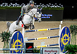 Riders in action during the Hong Kong Jockey Club Trophy competition as part of the Longines Hong Kong Masters on 13 February 2015, at the Asia World Expo, outskirts Hong Kong, China. Photo by Li Man Yuen / Power Sport Images