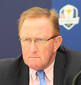 Richard Hills, Ryder Cup Director at the press conference to announce that Blairgowrie Golf Club will host the Junior Ryder Cup in 2014. The press converence took place during the second round of the 2012 Johnnie Walker Championships which are being played over the PGA Centenary Course at Gleneagles from 23rd to 26thh August 2012: Picture Stuart Adams www.golftourimages.com: 24th August 2012
